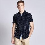 Wholesale 100% Cotton Latest Casual Long /Short Sleeve Dress Shirt Designs for Men