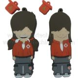 Silicone Girl Shaped USB Flash Drive (S1A-6026C)