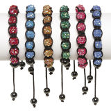 12 mm Rhinestone Ball Bead Bracelet