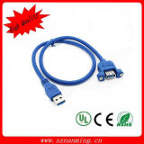 USB 3.0 Cable Male to Female Panel Mount Cable