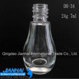 Transparent Glass Bottle for Nail Polish Contain with Cap