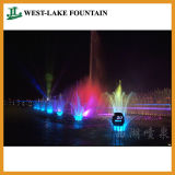 Artificial Lake Music Fountain with Colorful LED Lighting
