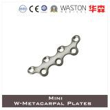 Titanium or Ss Mini W- Metacarpal Plate