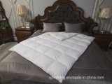 Hotel Bedding White Duck Down Duvet Quilt with Jacquard Cotton Fabric