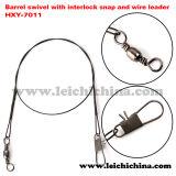 Fishing Barrel Swivel with Interlock Sanp and Wire Leader