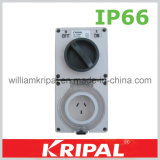 Waterproof Combination Switched Socket Outlet