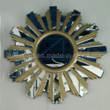 Golden Sunflower Shape Modern Wall Mirror for Home Decorative (LH-000536)