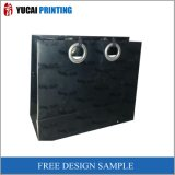 Black Paper Printed Bag Shopping Bag