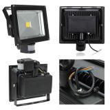 10W/20W/40W/60W/80W/100W High Quality Waterproof Outdoor COB LED Flood Light with PIR Motion Sensor