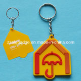 Soft Rubber PVC Key Ring with Custom Stamp Logo