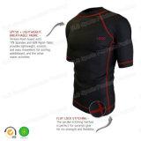 Short Sleeves Lycra Rashguards Shirt for Surfing in Black