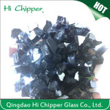 Black Colored Reflective Fire Pit Glass Chips