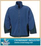 Wholesale Custom Men Zip up Fleece Jacket with Contrast Color