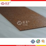 2.5mm &3mm Bronze Embossed Polycarbonate Sheet with UV Coating for Carport Roofing