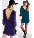 OEM Plus Size 2015 New Arrival Summer Chiffon Women Dresses