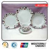 Hot Sell 20PCS Porcelain Tableware in Round Shape