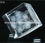 Laser Cut Crystal Paperweight Glass Paperweight (KS11018)