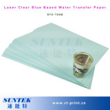 Laser Blue Based Clear Water Slide Decal Paper