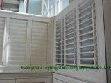White Wooden Louvered Casement Windows/Wood Jalousie Windows