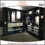 Wooden Furniture for Bedroom L-Shape Walik-in Wardrobe