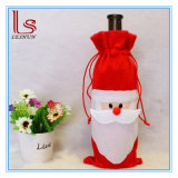 Christmas Red Wine Bottle Cover Bags and Gift Bags for Christmas Decoration Santa Claus