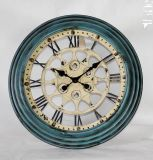 Antique Style Roman Number Metal Wall Clock