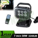 """7"""" CREE 30W Magnet Mounted LED Search Light with Remote Control"""