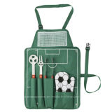 Football BBQ Set in Green Apron
