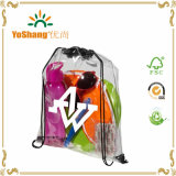 Made of Clear PVC Used Sport Drawstring Transparent PVC Backpack