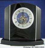 Solid Arch Mantle Skeleton Table Clock