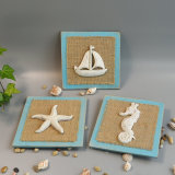 New Vintage Seashell Wall Plaque in Polyresin