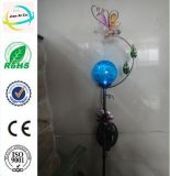 Classic Flower Shape Solar Power Crafts with Insects for Decoration