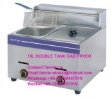High Quality Stainless Steel Gas Fryer for Kitchen, Snack Bar, Restaurant