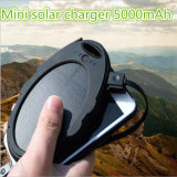 New Arrival Solar Charger 5000mAh Oval Mini Solar Power Bank with LED