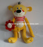 Plush Cute Teddy Bear for Baby with Flower in Hand
