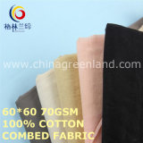 Solid Cotton Combed Fabric for Garments Textile (GLLML474)