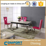 One Rectangle Six Chair and Glass Dining Table for Furniture