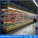 Supermarket Vertical Yogurt Display Open Front Refrigerator