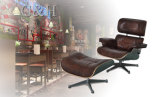 SGS Standard Herman Miller Leg Emes Lounge Chair with Ottoman