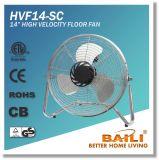 """14"""" Portable Fan Hv Floor Fan Chromed Metal Fan"""