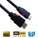 V2.0 High Speed with Ethernet, Mini Male Plug HDMI Cable