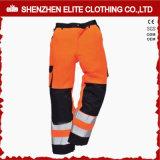 Orange Brown Reflective Cargo Cotton Workwear Pants (ELTHVPI-28)