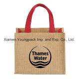 Wholesale Bulk Custom Promotional Two Tone Small Jute Wedding Tote Gift Bags