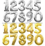 OEM Colorful Aluminum Foil Balloon with Number Design for Party