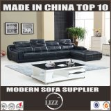 Modern L Shape Sectional Sofa with Genuine Leather