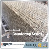 Natural Stone Yellow and Brown Granite Countertop Polished with Chamfer