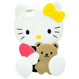 Hello Kitty Cartoon Silicone Custom Rubber Phone Cases
