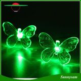 20 LEDs Color Changing Butterfly Solar LED Light Outdoor Waterproof Garden Tree Decoration Light Solar Christmas String Light