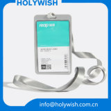 Customized Badge Name Hard Credit Card Holder with Lanyard