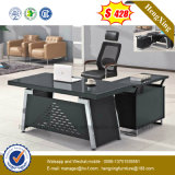 Modern Tempered Glass Executive Office Table Metal Structure Furniture (NS-GD005)